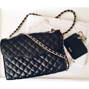 Rebecca Minkoff LARGE Quilted Affair Bag Black